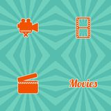 Movie theme icon Royalty Free Stock Photography