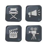 Movie theme icon Stock Photos