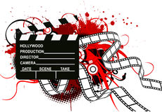 Movie theme illustration Stock Images