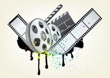 movie theme illustration Stock Photos