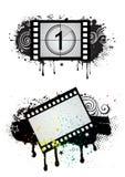 Movie theme illustration. Film strip,movie theme element Royalty Free Stock Photo