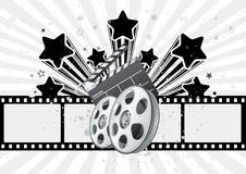 Movie theme illustration Royalty Free Stock Images