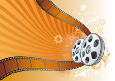 movie theme illustration Stock Image