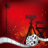 Movie theme illustration. Background movie theme illustration Stock Photo