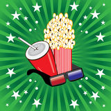 Movie theme objects royalty free illustration