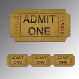 Movie Ticket. An illustration of a grunge movie ticket Stock Images