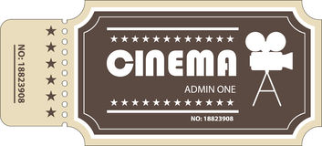 Movie ticket royalty free illustration