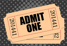 Movie ticket. With halftone background royalty free illustration