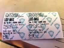 Movie Ticket Royalty Free Stock Photos