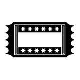 Movie ticket icon Royalty Free Stock Photo