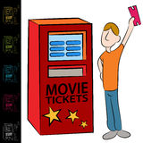 Movie Ticket Kiosk Machine royalty free illustration