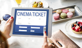 Movie Ticket Online Reservation Interface Concept Stock Photos