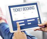 Movie Ticket Online Reservation Interface Concept Royalty Free Stock Images