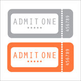 Movie ticket Royalty Free Stock Images