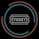 Movie ticket. vector Admit one, admission pass royalty free illustration