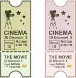 Movie Ticket vector Stock Photos