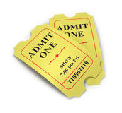 Movie Tickets Stock Photography