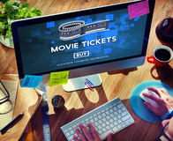 Movie Tickets Buying Entertainment Concept Royalty Free Stock Photo