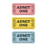Movie tickets isolated on white background. Royalty Free Stock Photo