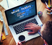 Movie Tickets Nights Audience Cinema Theater Concept Royalty Free Stock Photo