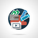 Movie tickets online color detailed icon Royalty Free Stock Photography