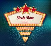 Movie time cinema premiere poster design. Stock Photo