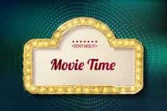 Movie time cinema premiere poster design. Stock Photos