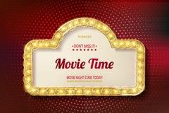 Movie time cinema premiere poster design. Stock Image