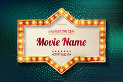 Movie time cinema premiere poster design. Royalty Free Stock Image