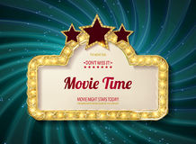 Movie time cinema premiere poster design. Stock Images