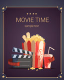 Movie Time Poster Royalty Free Stock Photos