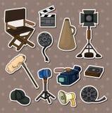 Movie tool stickers Stock Photo
