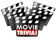Movie Trivia Film Studio Clapper Boards Game Test Quiz Royalty Free Stock Images