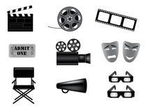 Movie vector icons set Royalty Free Stock Photos