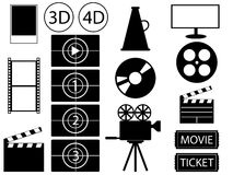 Movie vector Royalty Free Stock Image