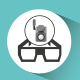 Movie video camera 3d glasses icon. Vector illustration eps 10 Royalty Free Stock Images