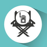 Movie video camera director chair. Vector illustration eps 10 Royalty Free Stock Photos