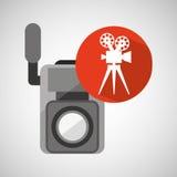 Movie video camera film retro. Vector illustration eps 10 Stock Images
