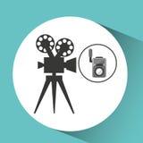 Movie video camera film retro. Vector illustration eps 10 Royalty Free Stock Photos