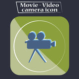 Movie - Video camera icon illustration  Royalty Free Stock Images