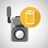 Movie video camera roll negarive. Vector illustration eps 10 Royalty Free Stock Photo