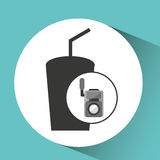 Movie video camera soda icon. Vector illustration eps 10 Royalty Free Stock Images
