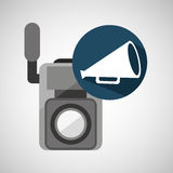 Movie video camera speaker vintage Stock Photo