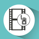 Movie video camera strip film icon. Vector illustration eps 10 Stock Photos