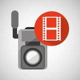 Movie video camera strip film icon. Vector illustration eps 10 Royalty Free Stock Photos