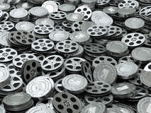 Movie video reels background. Films collection. Stock Images