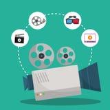 Movie and videofilm entertainment Stock Photos