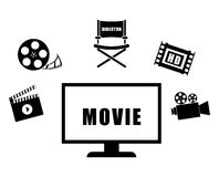 Movie and videofilm entertainment Royalty Free Stock Photo