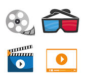 Movie and videofilm entertainment Stock Photography