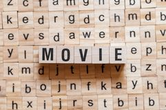 Movie word concept stock photo